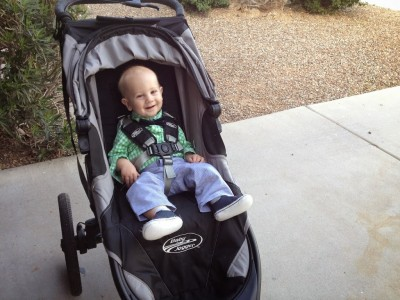 Getting back in shape with a baby in a running stroller.