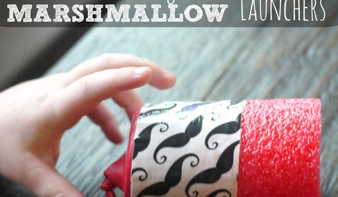 Who needs a nerf gun when you can make a marshmallow launcher? This simple pool noodle craft can be used all summer long. All you need is a pool noodle, duct tape and a balloon.