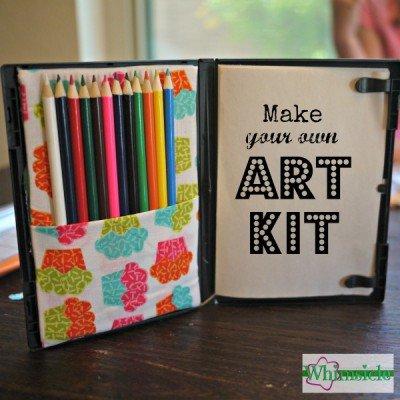 Kid S Travel Art Kit Keep Kid S Busy On Trip