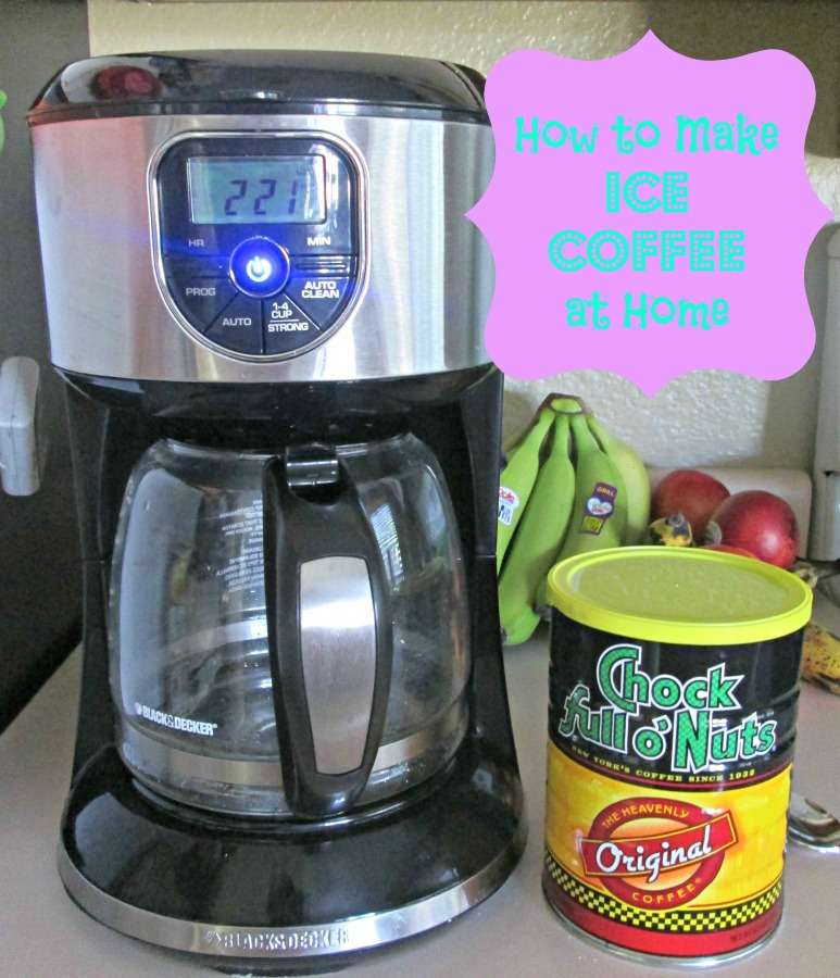 how to make iced coffee at home with instant coffee