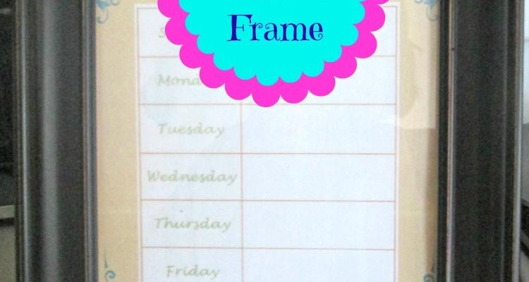 DIY Weekly Menu Frame