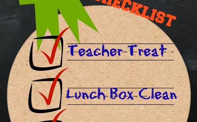 First Month of School Checklist