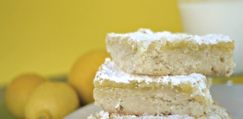 Flaky, crumbly and DELICIOUS! These lemon bars melt in your mouth at first bite. This post will give you tips on how to keep that crumbly, buttery texture.