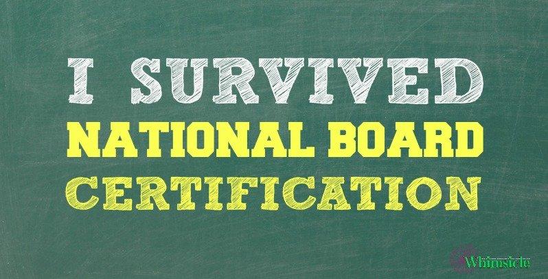 I Survived National Board Certification No Guilt Mom