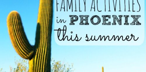 """The kids are home all summer and the temperatures are over 100! This post has a list of 30 """"cool"""" things to do with kids in the Phoenix area. From a chocolate factory tour to riding a sky train, the Phoenix area rocks."""