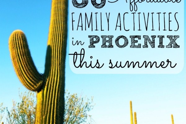 "The kids are home all summer and the temperatures are over 100! This post has a list of 30 ""cool"" things to do with kids in the Phoenix area. From a chocolate factory tour to riding a sky train, the Phoenix area rocks."