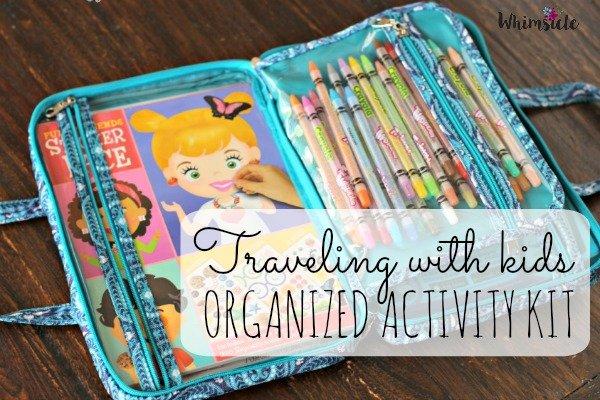 Organized Activity kit for kid travel