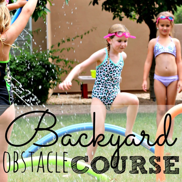 Create an easy pool noodle obstacle course with your kids this summer. It requires only simple supplies that can be found at the Dollar Store. Kids will do most of the construction themselves!