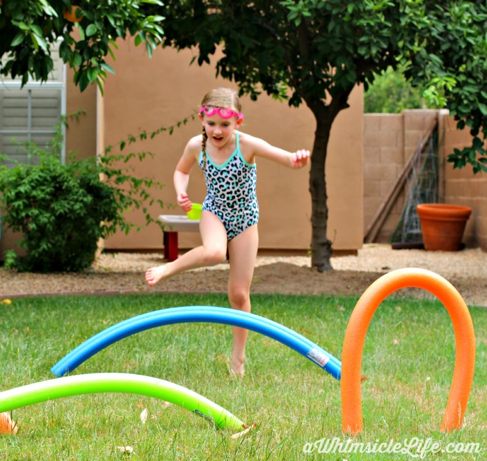 Running-pool-noodle-obstacle-course