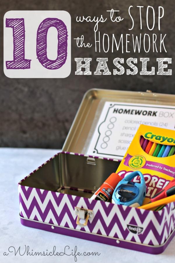 10-ways-stop-homework-hassle
