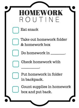 homework-routine-printable