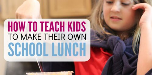 Running out of ideas for school lunches for kids? THIS is an easy way to make picky eaters happy - have them pack their own lunch!! This post has lunchbox ideas along with a free printable to make mornings easy. Great to start in Kindergarten, but also works for elementary school, middle school and high school kids! Perfect parenting advice for busy moms.