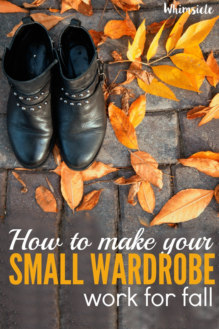 Need some fall outfit ideas but don't want to buy more clothes? Here's how to make a small wardrobe work for fall.