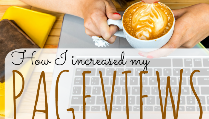 Feeling stuck with your traffic numbers on your blog? Here's what I did to dramatically increase my page views! And my views are still going up!