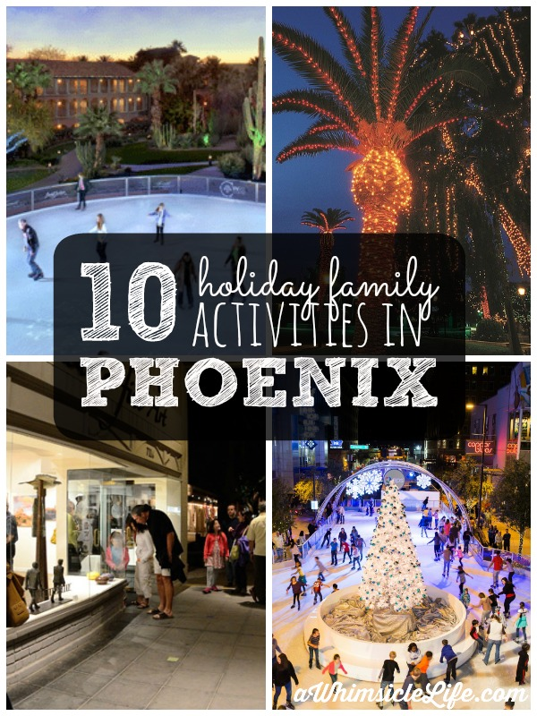 10 awesome ideas from Christmas lights to theatre that will keep the entire family busy this December in Phoenix. Save this pin for when you are looking for something to do!