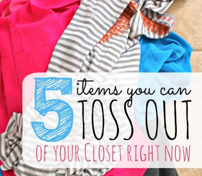 5 Items You Can Toss Out of Your Closet Right Now