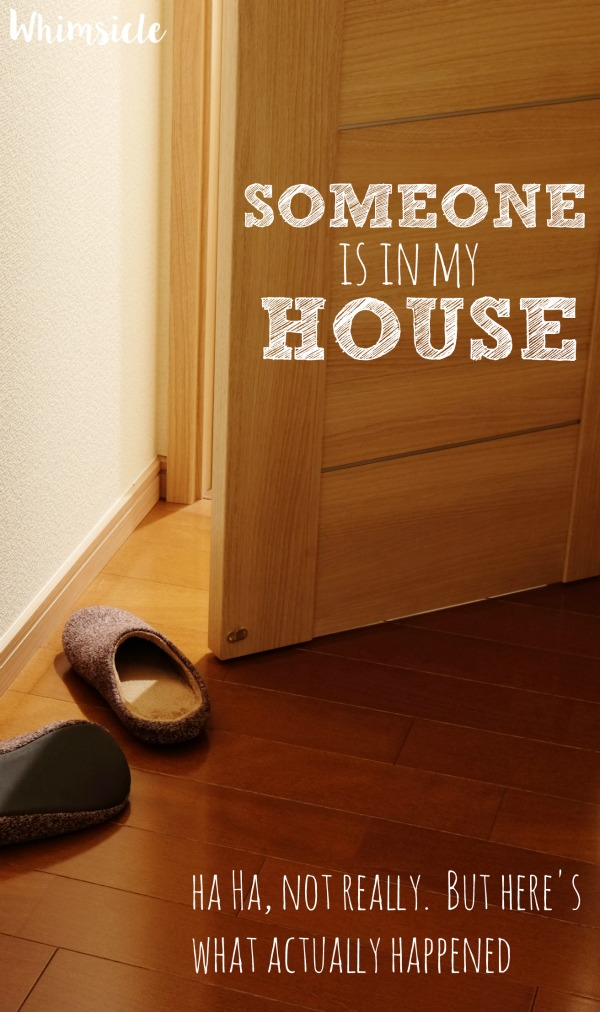 Ever feel paranoid that someone might break into your house?  Me too.  See how I reacted and keep this article around when you are in need of a good laugh.