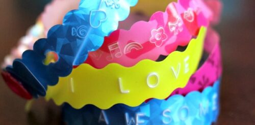 Gifts for Crafty Kids that let them stamp their own bracelets.