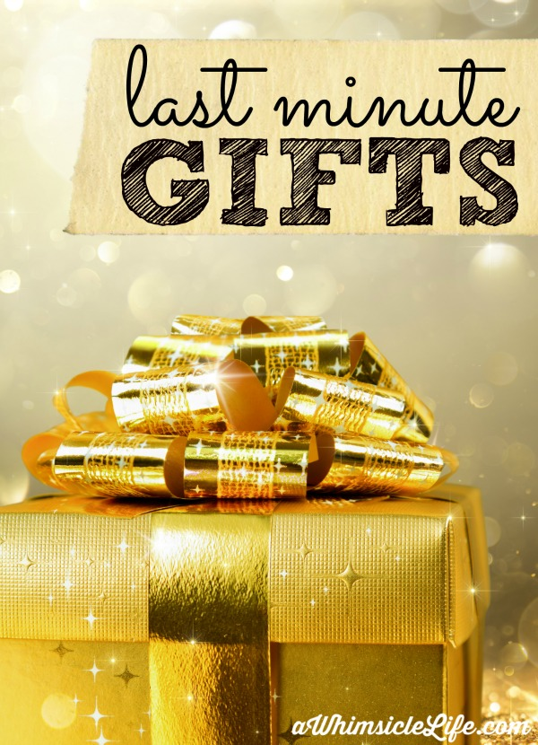 Need a few last minute gifts? This list has original ideas that you can purchase online (no waiting required!), make in the kitchen or buy in the store. Your gift recipient will love you!