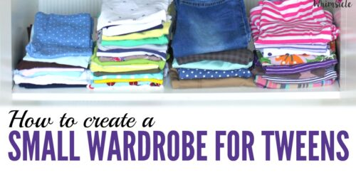 Here's how to create a tween's small wardrobe step by step. Organize her closet, buy the appropriate tween clothing and put together outfits.