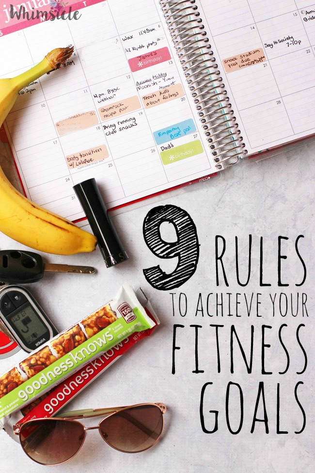 Do you have fitness goals but have a hard time reaching them?  I use these 9 rules everyday to improve my eating and my energy.  The first one alone makes such a difference!