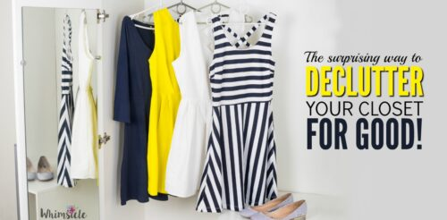 Want to finally declutter your closet but you just can't? Here's how to finally organize and clean your wardrobe.