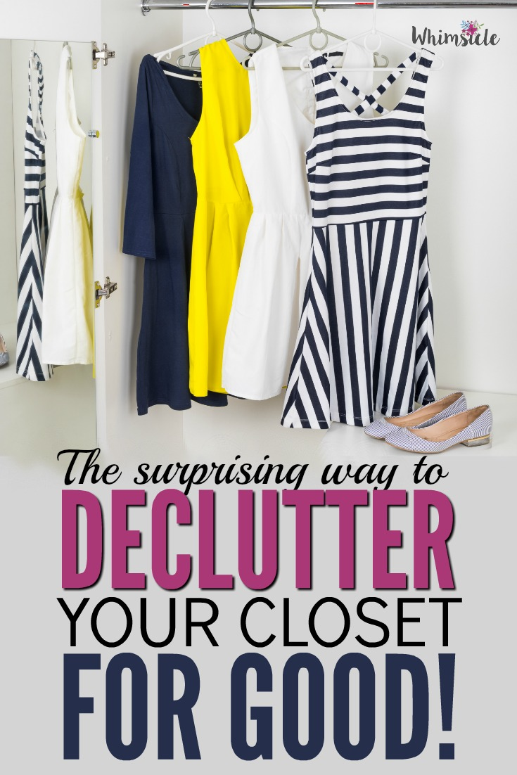 Want to finally declutter the closet but you just can't? Here's how to finally organize and clean your wardrobe.