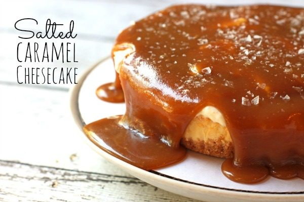 The easiest salted caramel cheesecake you will ever make! Delicious homemade caramel, caramel mousse and a sprinkle of salt on top.