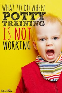 What to do when potty training isn't working. You are doing everything, but your kid just isn't getting it. It's OK. This will give you five tips on how to make it through.