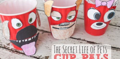 Take this cute craft with you to the theater to se The Secret Life of Pets! Perfect for popcorn or for your morning Cheerios! {sponsored]