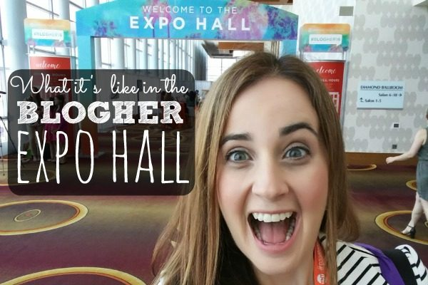 Wonder what bloggers do at a conference? Here's an inside look at the BlogHer Expo hall! Sponsored.