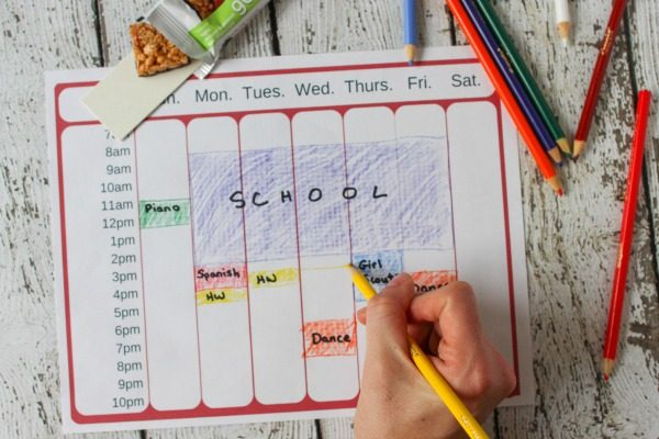 Help Your Child Manage Her After School Schedule