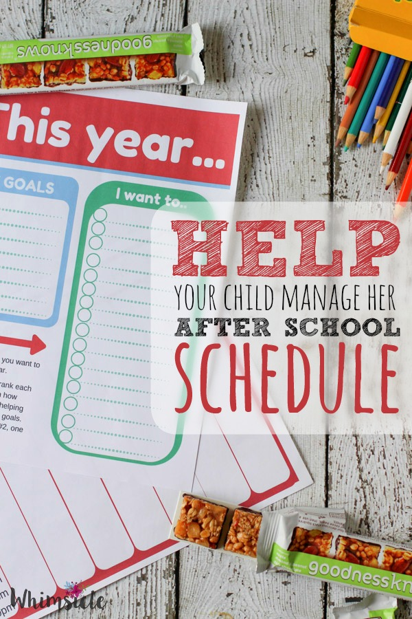 Do you kids afterschool schedules drive you insane? Here is a way to teach kids how to make choices over what to do after school, set goals and put them into action.