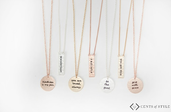 How cute is this necklace? Read how this boss mom conquered her anxiety attacks and how this helps remind her.