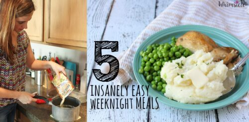 5 easy dinner recipes for simple weeknight meals. These are also great kids meals for pleasing those picky eaters.