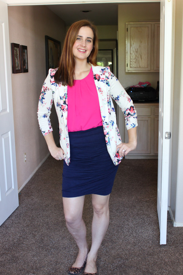 Styling a blazer with a skirt