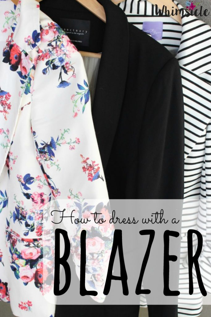 A blazer adds instant class and credibility to any outfit! Here are three fashion ideas you can add to your closet.