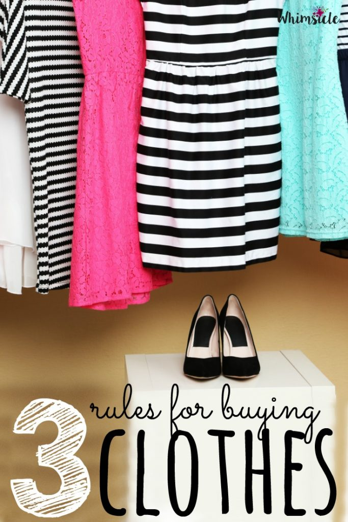 Need help buying clothes? These rules for buying clothes are easy to follow.