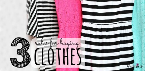 Need help buying clothes? These rules are easy to follow before deciding to buy anything.