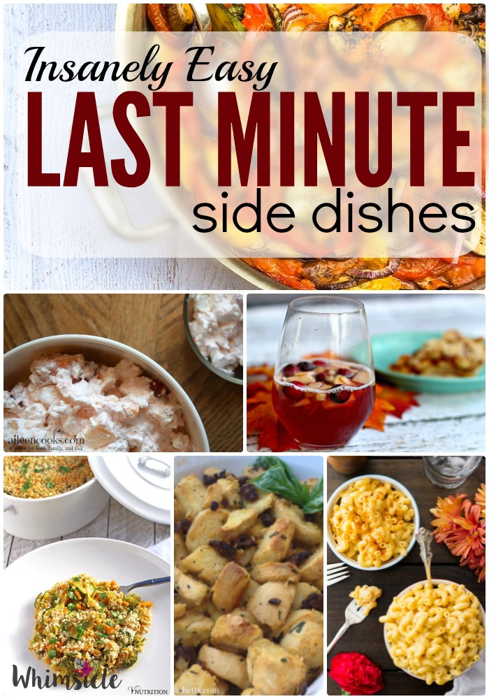 Want an easy side dish to bring along to Thanksgiving? You will love these simple recipes for sides.