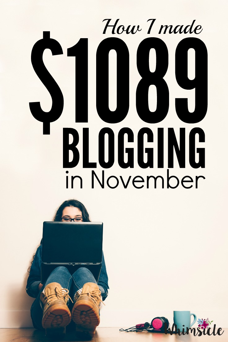 Wonder how a blogger makes money? Here's the inside look of how to money at home. This month's blog income report.