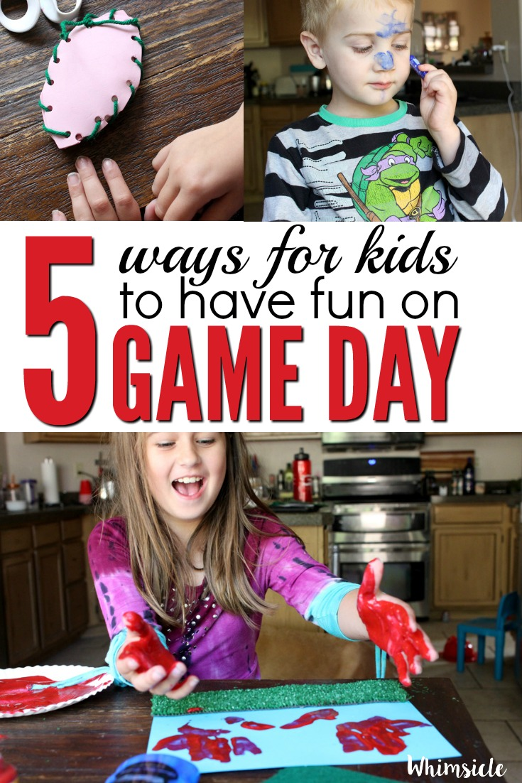Want some easy kid football crafts for game day? These five activities will keep kids happy and having fun throughout the entire game!