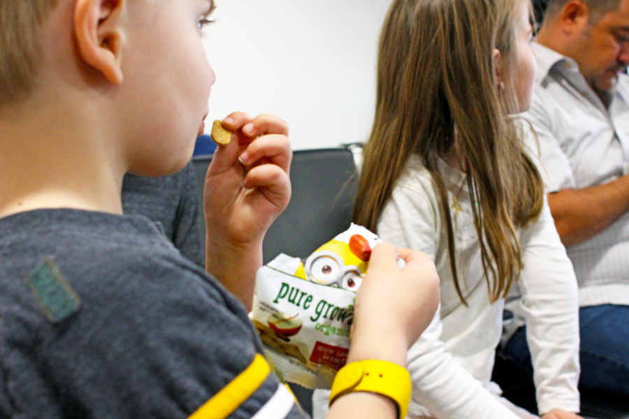Pure Growth Organic snacks for flying with kids