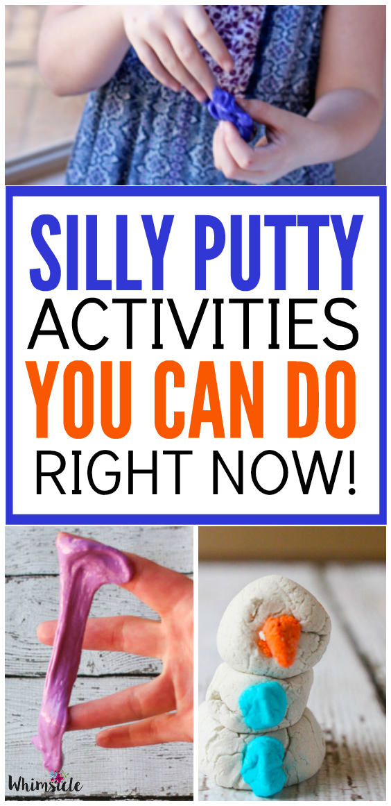These silly putty activities are perfect for kids stuck inside!  An amazing rainy day activity.