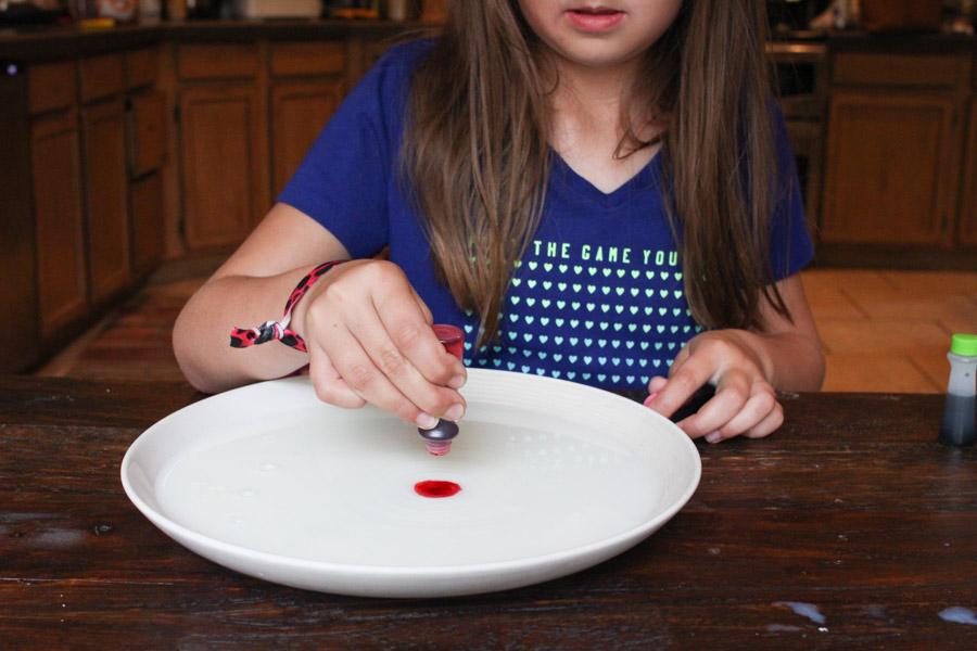 colored milk kid activity