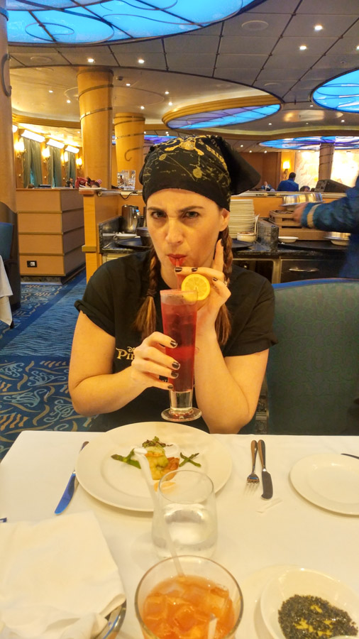 Pirate dress at Disney Cruise dinner