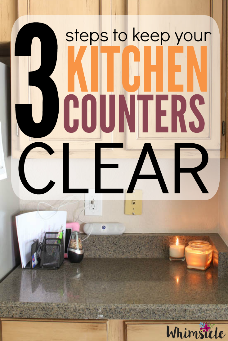 how to keep my kitchen counter clutter free