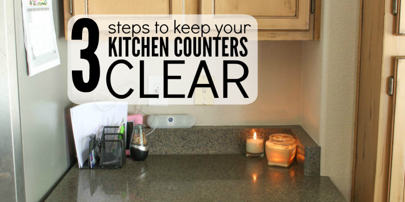 How to Keep Kitchen Counters Clear