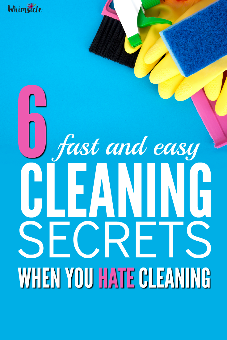 I hate cleaning my house!! These cleaning secrets make it fast and easy - even with kids. Love. Love. Love.