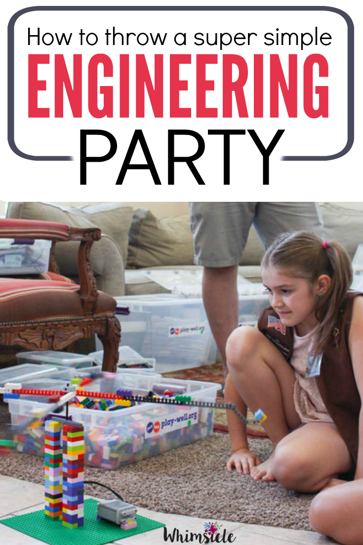 What an amazing birthday party idea! Great for STEM learning, simple and fun.